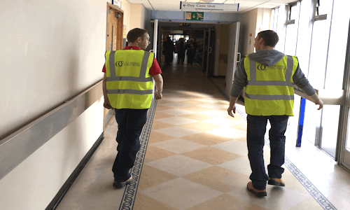 Hospital Cleaning Corridor