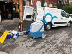 carpet cleaning vehicle